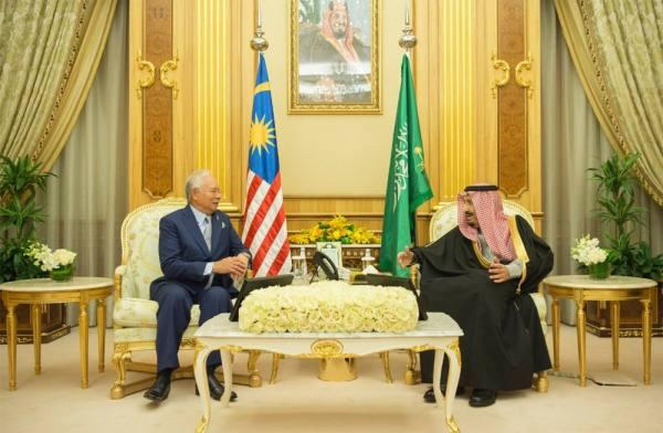 خادم الحرمين يستقبل دولة رئيس وزراء ماليزيا