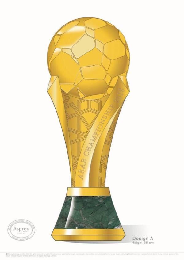 آل الشيخ يكشف تصميم كأس البطولة العربية