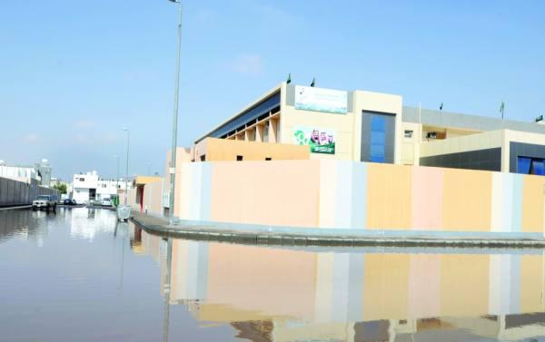 المياه تحاصر إحدى المدارس