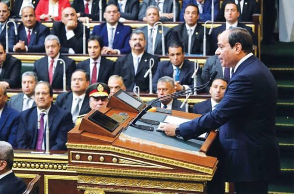 السيسي بعد أداء اليمين: مصر للجميع إلا من اختار الإرهاب
