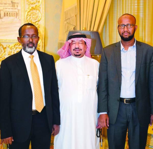 الجابري مع وزير الثروة الحيوانية الصومالي