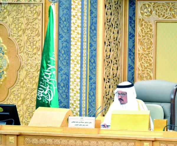 نائب رئيس المجلس خلال الجلسة