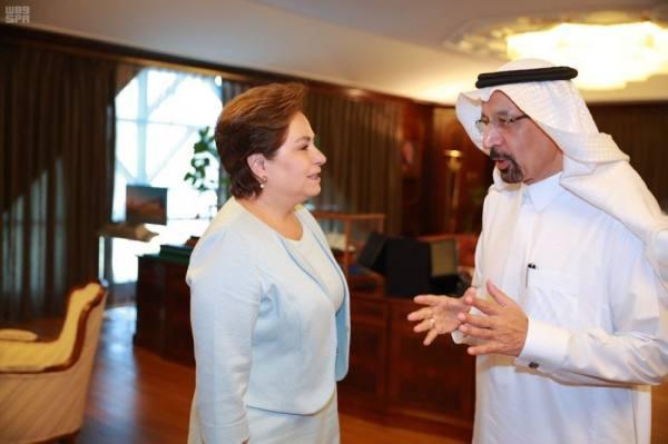 وزير الطاقة يستقبل السكرتيرة التنفيذية لاتفاقية الأمم المتحدة للتغير المناخي