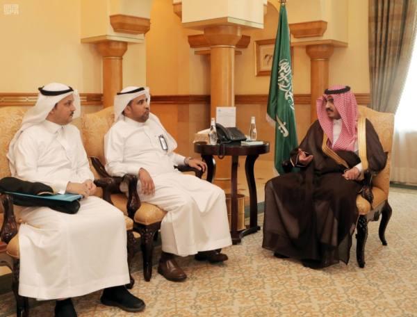 بدر بن سلطان يستقبل رئيس قطاع الكهرباء ومدير فرع