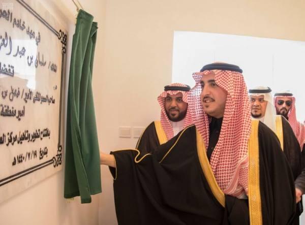أمير الجوف يدشن عددًا من المشاريع الصحية بمحافظة القريات
