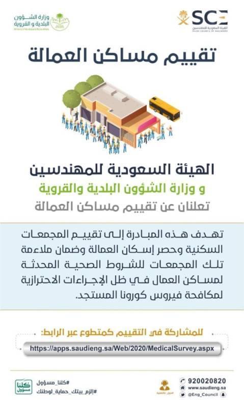 هيئة المهندسين تفتح التطوع لأعضائها للإسهام في تقييم مساكن العمالة