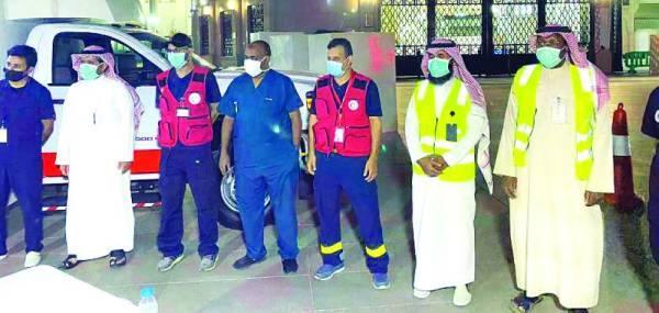 لجنة التبرع بالدم في ساحة المسجد النبوي الشريف