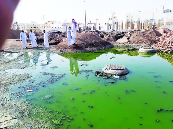 الصرف الصحي يهدد سكان «مخطط الدفاع» بالمدينة بالضنك وكورونا
