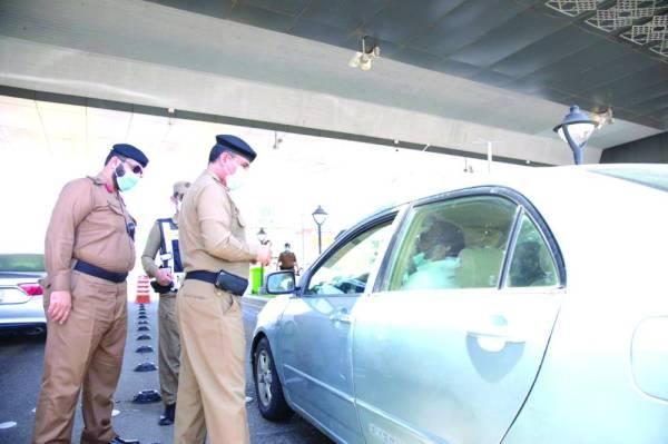 رجال الأمن يباشرون مهامهم للداخلين إلى مكة
