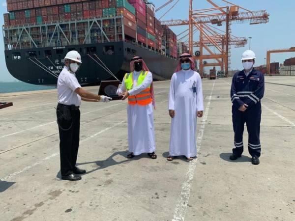 ميناء الجبيل يستقبل أول رحلة للخط الملاحي العالمي يانغ مينغ