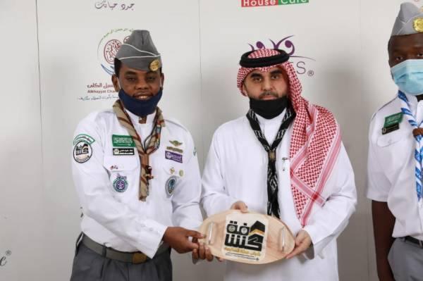 خياط عضو شرف نادي الوحدة يكرم كشافة شباب مكة
