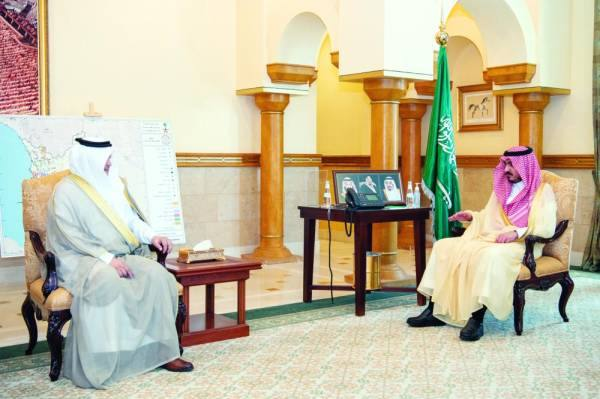 نائب أمير مكة يستقبل مدير فرع «الموارد البشرية»