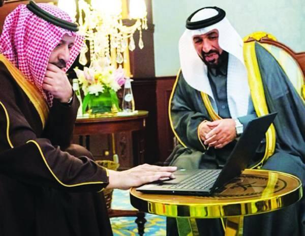أمير الباحة الأمير د. حسام بن سعود خلال تدشين المرحلة الإعدادية للملتقى