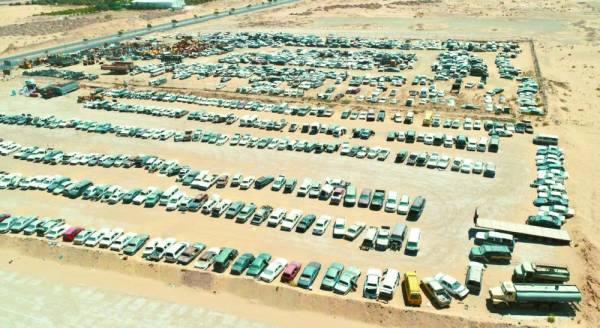 أمانة الجوف ترفع 373 سيارة تالفة بالشوارع والأحياء