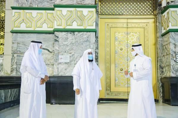 السديس يدشن مشروع ترقيم أبواب المسجد الحرام