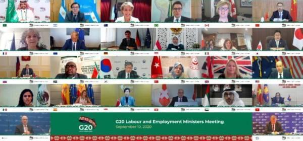وزراء العمل والتوظيف في مجموعة الـ20: مكافحة جائحة كورونا والتغلب عليها يظل على رأس الأولويات