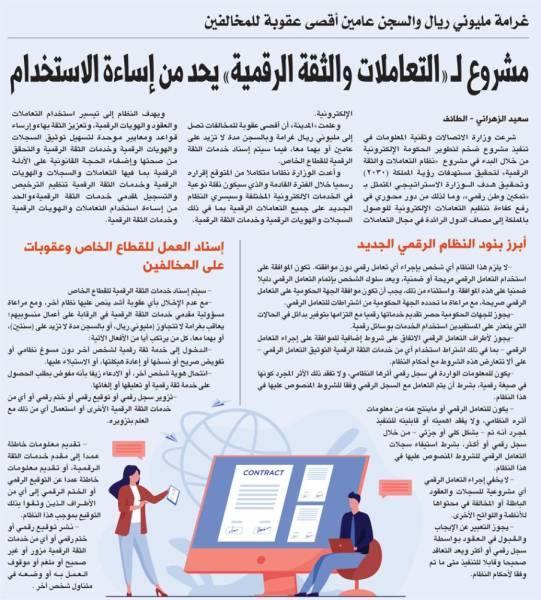 مشروع لـ «التعاملات والثقة الرقمية» يحد من إساءة الاستخدام