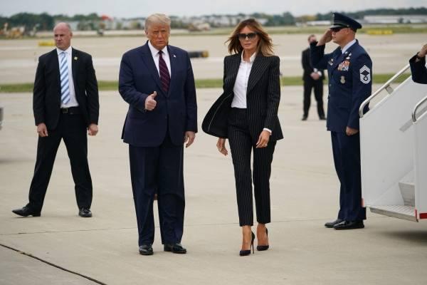ترامب يصل الى كليفلاند لإجراء أول مناظرة مع بايدن