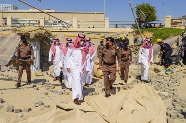 الأمير أحمد بن فهد يقف ميدانيا عل الانهيار