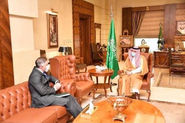 مشعل بن ماجد يستقبل رئيس مندوبية الاتحاد الأوروبي لدى المملكة