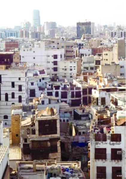 منظر من الأحياء القديمة والمشاريع الجديدة