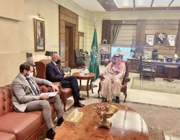 مشعل بن ماجد يستقبل سفير إيطاليا لدى المملكة