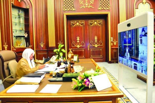 آل الشيخ خلال الجلسة