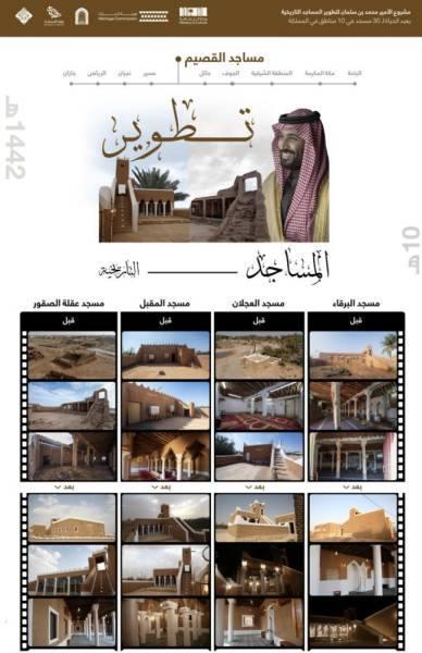 فيصل بن مشعل يشكر ولي العهد علىترميم وتطوير 4 مساجد تاريخية بمنطقة القصيم