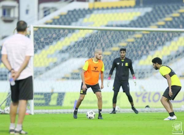 كريم الأحمدي والجبرين في تدريب الأمس