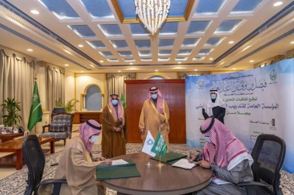 أمير الجوف يشهد مراسم توقيع 6 اتفاقيات بين عدد من الجهات