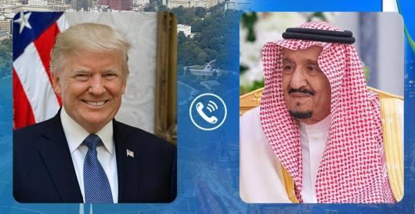 خادم الحرمين يبحث مع الرئيس الأمريكي تطورات الأوضاع في المنطقة (هاتفيًا)