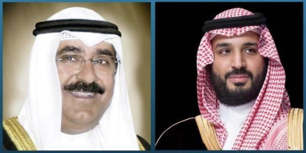 في اتصال هاتفي بأبنه.. ولي العهد يعزي في وفاة الشيخ ناصر الصباح