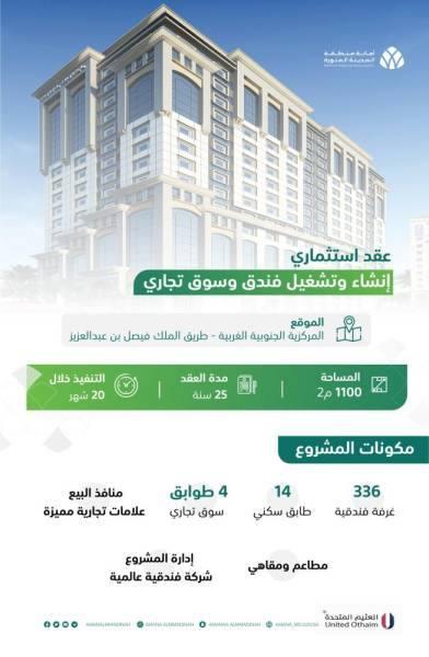 المدينة المنورة : فندق بسعة 336 غرفة خلال 20 شهراً بالمنطقة المركزية