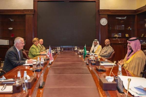 الأمير خالد بن سلمان يبحث مع وكيل وزارة الدفاع الأمريكية للسياسات المكلّف برامج التعاون الثنائي