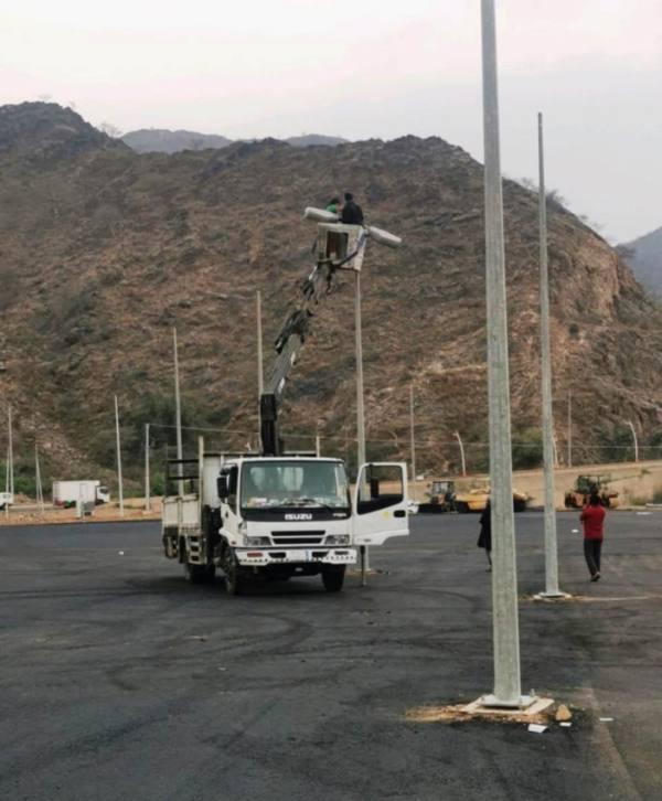 استعدادات بلدية الداير لتجهيز موقع المهرجان