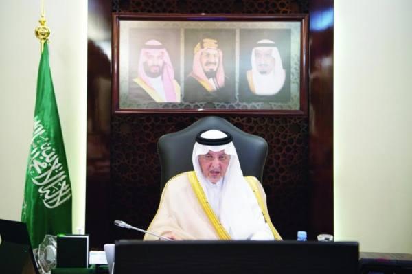 أمير مكة يطلع على المستجدات الخاصة بأملاك الوقف