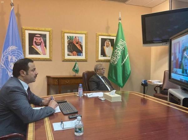 المعلمي يعلن عن مساهمة المملكة بـ 100 الف دولار أمريكي لتجديد موارد صندوق الأمم المتحدة لبناء السلام