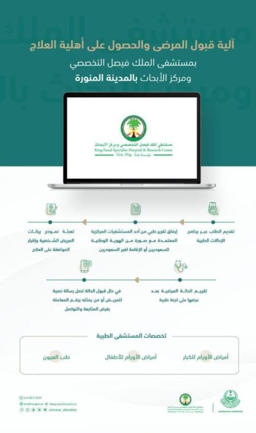 مستشفى الملك فيصل التخصصي بالمدينة المنورة يبدأ استقبال المرضى والمراجعين