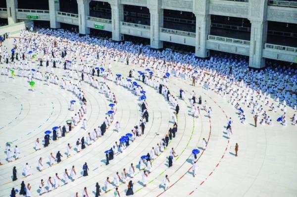 تفويج 7.5 مليون معتمر ومُصلٍّ بالمسجد الحرام