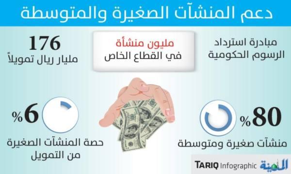 176 مليار ريال تمويل للمنشآت الصغيرة والمتوسطة بزيادة 52 %