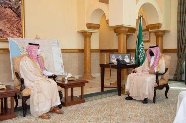 نائب أمير مكة يستقبل رئيس جامعة جدة ومدير الدفاع المدني بالمنطقة