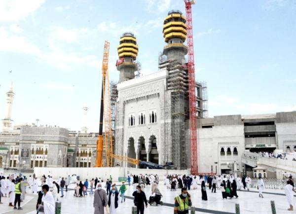 اكتمال تطوير باب الملك عبدالعزيز بالحرم قبل رمضان
