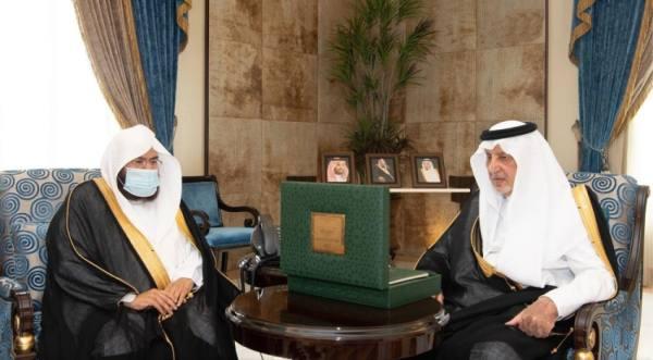 أمير مكة ونائبه يستقبلان رئيس شؤون المسجد الحرام والمسجد النبوي