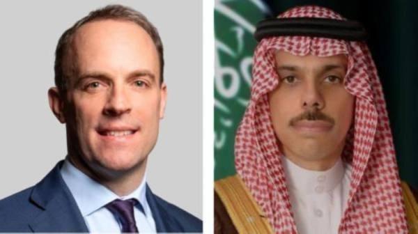 وزير الخارجية يستعرض مع نظيره البريطاني آخر المستجدات الإقليمية والدولية