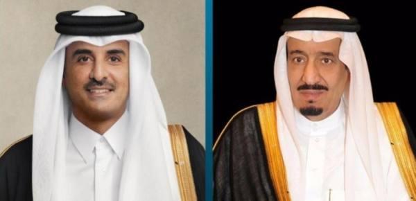 القيادة القطرية تهنئ خادم الحرمين بنجاح العملية التي أجراها ولي العهد