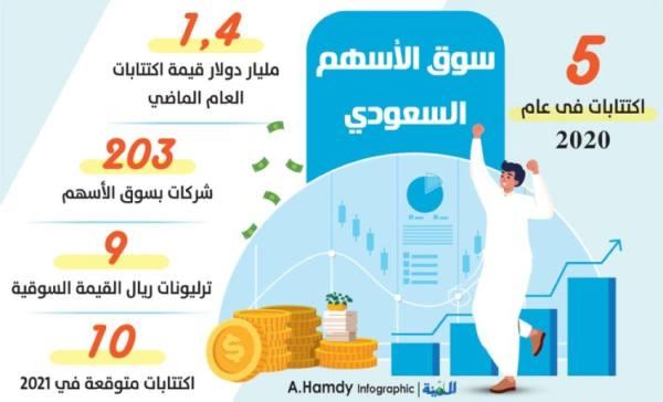 السعودية تقود سوق الاكتتاب في 2020 وتشهد 10 طروحات العام الجاري