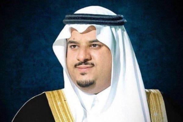 نائب أمير الرياض يطمئن على متضرري شظايا