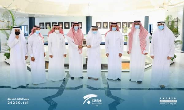 استقبال رئيس الغرفة التجارية بجدة لمدير أحوال منطقة مكة