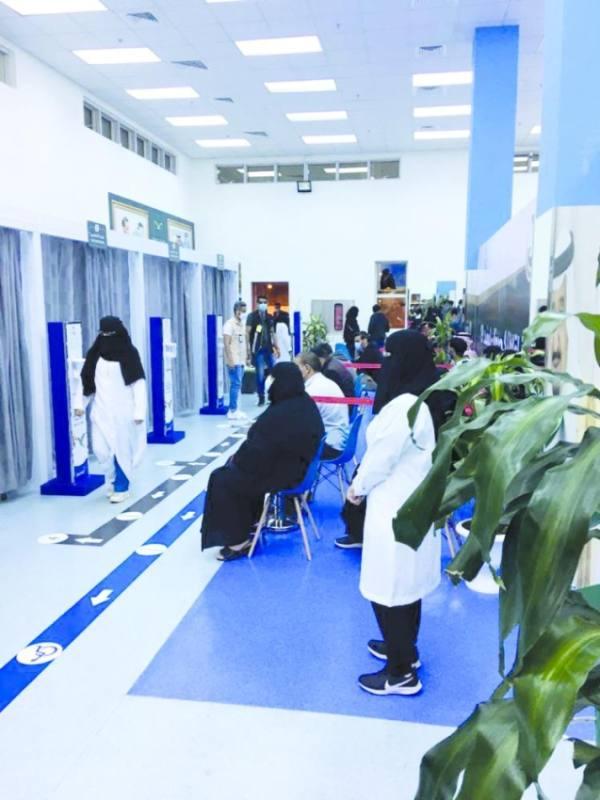 مركز نموجي للقاح «كورونا» في مجمع الملك فيصل بالطائف