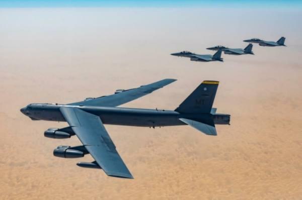 تمرين ثنائي بين المقاتلات السعودية والأمريكية